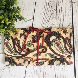Paisley Print Travel Toiletry Cosmetic Jewelry Bag